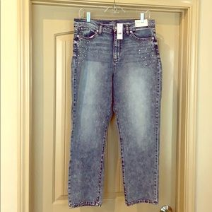 Pearl stone-washed jeans